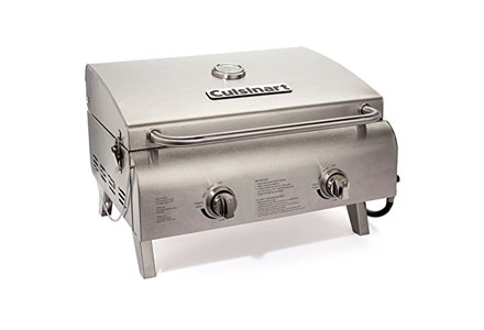 5. Cuisinart CGG-360 Chef's Style Stainless Steel Table TopGrill.