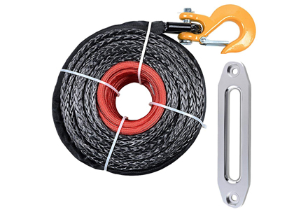 2. 95 Ft 3/8 20500 Pounds Synthetic Winch Rope.