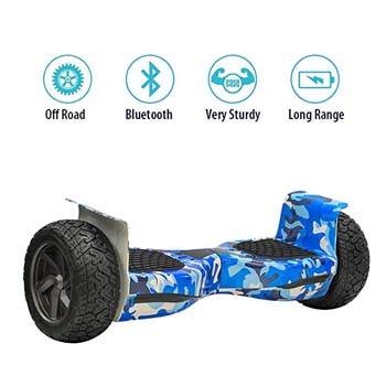 2: NHT Hoverboard - All Terrain Rugged 8.5 Inch Wheels Off-Road Electric Smart Self Balancing Scooter