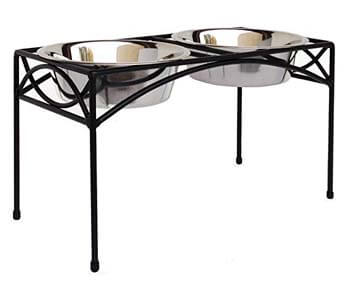 3. NMN Designs Regal Double Bowl Elevated Diner
