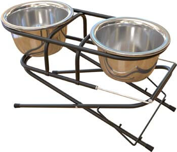 6. FluffyPal Elevated Dog Bowls