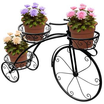 9. Sorbus Tricycle Plant Stand - Flower Pot Cart Holder