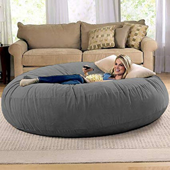 7. Jaxx 6 Foot Cocoon - Large Bean Bag Chair for Adults