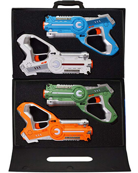 9. DYNASTY TOYS Laser Tag Set and Carrying Case