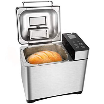 8. KBS Bread Machine, Automatic 2LB Convection Bread Maker with Nut Dispenser