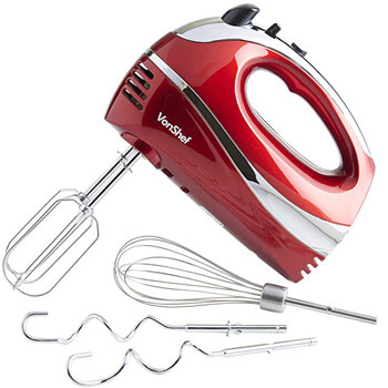 3. VonShef Electric Hand Mixer Whisk With Stainless Steel Attachments