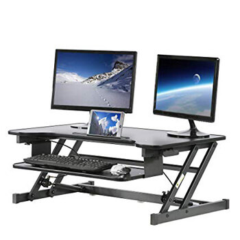 4. BestMassage Adjustable Stand up Desk Sit to Stand