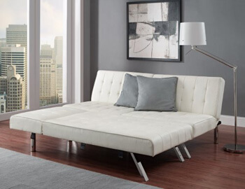 7: Modern Sofa Bed Sleeper Faux Leather Convertible Sofa Set Couch