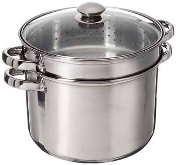 3: ExcelSteel 8 Quart 18/10 Stainless Steel 4 Piece Multi-Cookware Set